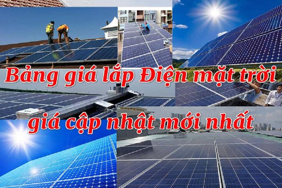 Giá đầu tư điện mặt trời năm 2021