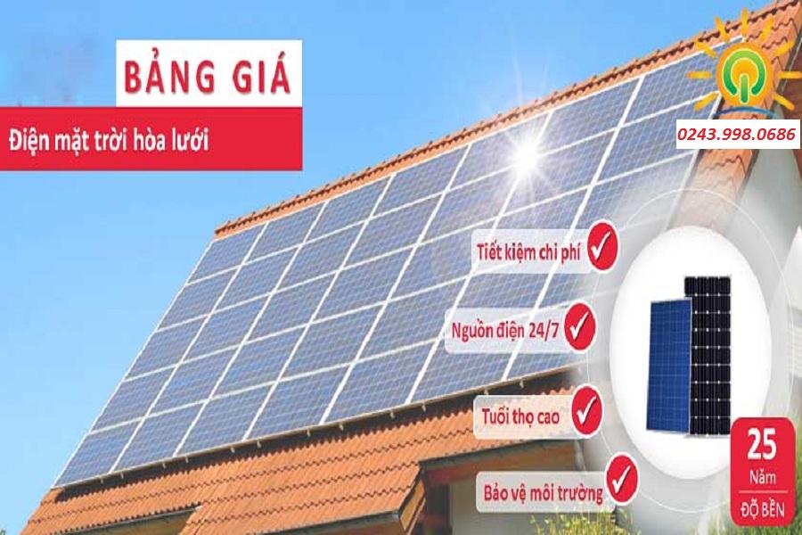 Giá điện mặt trời hòa lưới